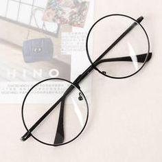 Transparent circular metal frame of transparent circle Korean clear pottery glasses - - Round Lens Sunglasses, Cute Sunglasses, Sunglasses Women, Circle Glasses, Fake Glasses, Ladies Glasses, Glasses Style, Soft Grunge, Korean Glasses