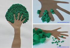 Crumple # Spring # Tree # – # Before # Before School # – - Mode Trend 2021 Earth Day Activities, Preschool Activities, Diy For Kids, Crafts For Kids, Earth Day Crafts, Green School, School Decorations, Drawing For Kids, Preschool Crafts