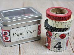 Nostalgisches Papierklebeband zum Basteln, Dekorieren und Verpacken.   Das Klebeband lässt sich ganz einfach von Hand abreißen, aufkleben und rüc...