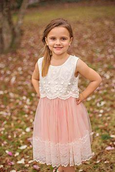 Girls tulle dress Toddler Flower Girl Dress. by FrankieGinaCouture
