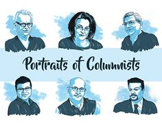 """Check out new work on my @Behance portfolio: """"Portraits of Columnist_Editorial illustration#"""" http://be.net/gallery/50313115/Portraits-of-Columnist_Editorial-illustration"""