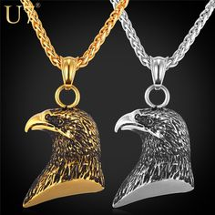 Free  Eagle Gold Plated and stainless steel  Jewelry Necklace-just pay shipping