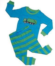 "Leveret Little boys ""Garbage Truck"" 2 Piece Pajama 100% Cotton 6M-8 Years) -- Check this awesome image @"