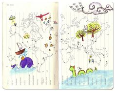 The absolute cutest way to decorate the time zone part of a Moleskine