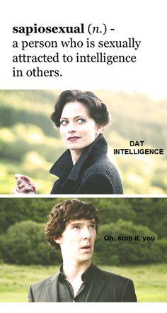 "Irene Adler and Sherlock. ""Brainy is the new sexy."" Am I the only one who ships Sherlock/Irene? Sherlock Holmes, Sherlock Fandom, Sherlock Irene Adler, Moriarty, Sherlock Bored, Sherlock Series, Sherlock John, Martin Freeman, Benedict Cumberbatch"