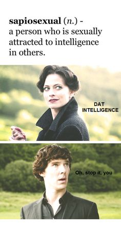 Sapiosexual the very definition of Irene Adler. Oh Mari I can't think of her the same way now because of you.... XD