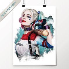Harley Quinn Margot Robbie Suicide Squad Kunstwerk