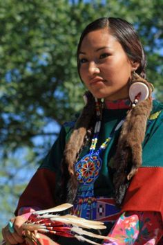 Beautiful Native American Woman and her culture.
