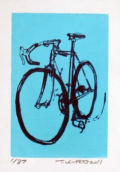 Bike Art Print  Classic Cinelli Road Bicycle  by bicyclepaintings, $20.00