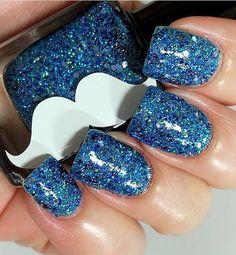 Mr. Ten Below- Blue Glitter Holographic Nail Polish
