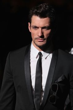 David Gandy Photos - David Gandy attends the Dolce & Gabbana show as part of Milan Fashion Week Menswear Spring/Summer 2013 on June 23, 2012 in Milan, Italy - Dolce & Gabbana: Front Row - Milan Fashion Week Menswear Spring/Summer 2013