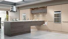 Charles Rennie Mackintosh Linear Brown Grey Avola Kitchen