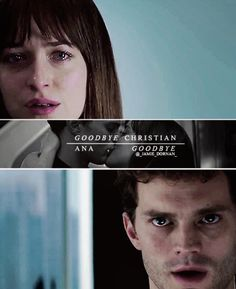 Fifty Shades of Grey - the movie https://www.pinterest.com/lilyslibrary/ Ana and Christian saying Goodbye
