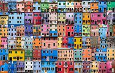 Colorful buildings in Latin America