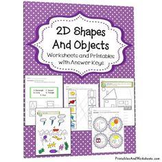2D Shapes Worksheets - Printables & Worksheets 1st Grade Math Worksheets, Shapes Worksheets, Printable Worksheets, Printables, Geometric Shapes Drawing, 2d And 3d Shapes, Maths, Homework, Teaching