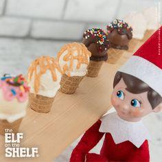 Elf-sized Ice Cream Cones | Elf on the Shelf Ideas