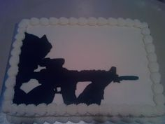 sniper cake grooms cake lol 4th Birthday, Birthday Cakes, Birthday Ideas, Birthday Parties, Army Party, Wedding Planning, Wedding Ideas, Grooms, Cake Decorating
