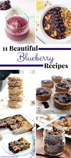 11 Beautiful Blueberry Recipes from @Healthy_Helper...colorful, antioxidant rich recipes that are bursting with sweet blueberry flavor and perfect for celebrating blueberry season! Vegan, gluten-free, and paleo options for all! http://healthyhelperblog.com?utm_source=utm_source%3DPinterest&utm_medium=utm_medium%3Dsocialmedia&utm_campaign=utm_campaign%3Dblogpost