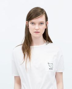 ZARA - WOMAN - EMBROIDERED T-SHIRT