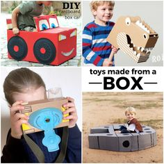 An empty box is so much more than just trash. You can turn it into so many incredible things! I love showing my kids how to put their imagination to work by turning trash into treasure.