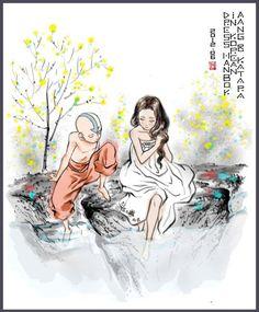 Aang and Katara. wow this is really beautiful.