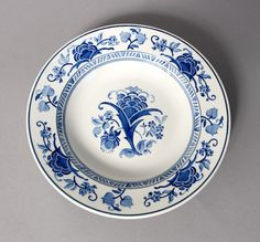 plate villeroy boch blue white porcelain germany by northvintage, kr180.00