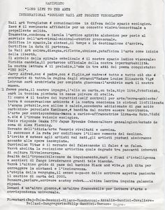 1985 Manifesto mostra long life to the arts Varese
