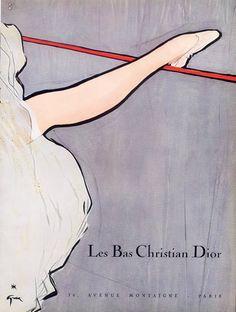 Christian Dior (Lingerie) 1953 René Gruau