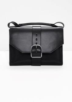 cb767106c4f1 Buckle Leather Shoulder Bag Leather Crossbody Bag