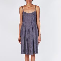 Linen Sundress in Indigo chambray