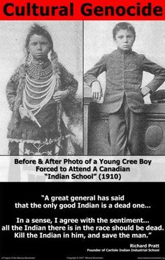 """The American Indian Holocaust, known as the year war"""" and the """"World's Longest Holocaust In The History Of Mankind And Loss Of Human Lives."""" Genocide and Denying It: Why We Are Not Taught that. I hope that general met the hell he held such belief in. Canadian History, Native American History, Native American Indians, Native Indian, Indian Boy, Indian Tribes, History For Kids, History Facts, History Quotes"""
