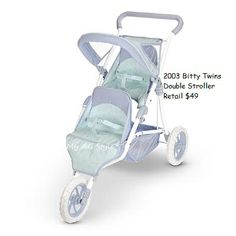 American Girl Doll Bitty Twins double stroller