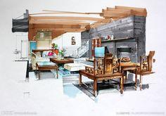Interior Hand Sketches
