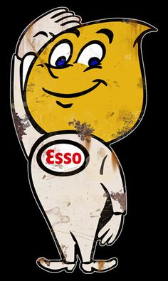 Large Vintage Esso Boy Sign! www.garageart.com