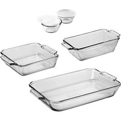 Anchor Hocking 7-Piece Bakeware Set -- any glass baking dish safe for oven and microwavw