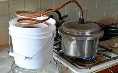Homemade pressure cooker essential oil distiller - I put this one in for the genius to make your own oils, I truly wish I could try this one but don't think I have the brains. Healing Herbs, Medicinal Herbs, Natural Healing, Making Essential Oils, Pure Essential Oils, Natural Medicine, Herbal Medicine, Herbal Remedies, Home Remedies