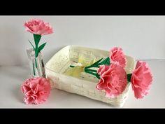 【折り紙・コピー用紙】カーネーション Origami Print paper Carnation - YouTube