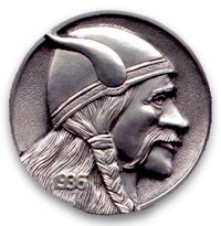 Hobo nickels.  It's a toss-up between the Viking and Sherlock Holmes.