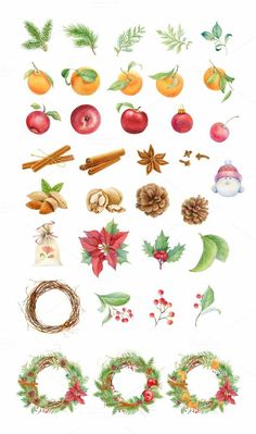 Christmas set. Watercolor. by Svetlana Bakaldina on Creative Market