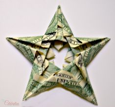 Origami Money Star - awesome for graduation gifts! Takes 5 bills; perfect for 20's