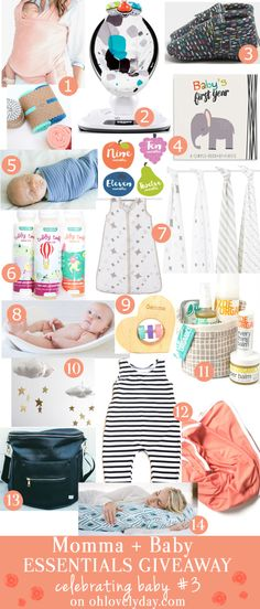 Baby Goodies Giveaway Celebrating  Baby #3   ohlovelyday.com