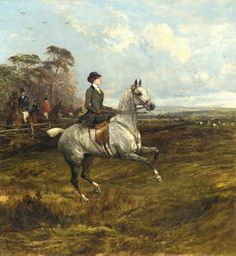 HORSE: Woman on White Horse on One 16 inch Fabric Panel to Sew .Actual Picture is approx on white background. HORSE: Woman on White Horse on One 16 inch Fabric Panel to Sew .Actual Picture is approx on Hunting Painting, Victorian Paintings, Fox Hunting, Equine Art, Horse Art, Art Reproductions, Fine Art Prints, Poster Prints, Horses