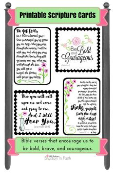 If your feeling discouraged don't give up my friend. Hold onto the truth in God's word and don't let go. These encouraging scripture cards include powerful verses from the bible t…
