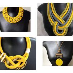Tassel Jewelry, Soutache Jewelry, Fabric Jewelry, Leather Jewelry, African Necklace, African Jewelry, Felt Necklace, Diy Necklace, Crochet I Cord