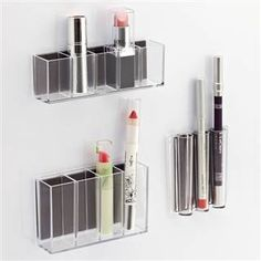 how to store makeup vertically