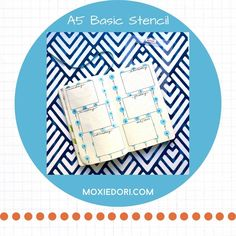 The A5 Basic Stencil makes all of your tried and true monthly and weekly box layouts. Each of the four rectangles are perfectly sized to mix and match. #bulletjournal #weeklylayout March Bullet Journal, Bullet Journal For Beginners, Bullet Journal Spread, Bullet Journal Layout, Bullet Journal Inspiration, Bullet Journal Stencils, A5, Spreads, Layouts