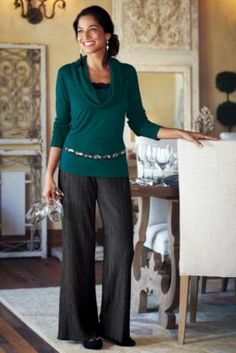 Knit Plisse Pant from Soft Surroundings