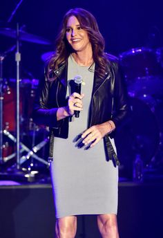 Caitlyn Jenner hit the stage in a hot outfit at Boy George's concert. Click through to see her gorgeous snaps.