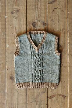 Knitting Patterns Vest Ravelry: Boy's Vest – Shore pattern by Kyoko Nakayoshi. Available in the shop! Knitting Club, Baby Boy Knitting, Knitting For Kids, Knit Baby Sweaters, Boys Sweaters, Kids Knitting Patterns, Cotton Clouds, Knit Vest Pattern, Baby Vest