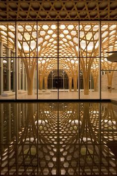 ceiling design reflecting on water